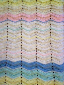 Rainbow Blanket Closeup